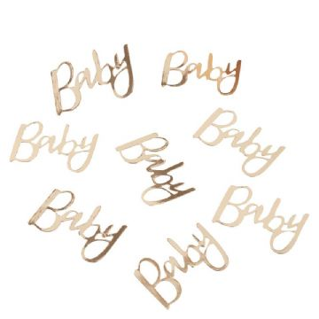 """Baby"" Gold Table Confetti"